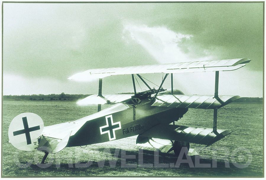 Fokker Triplane three winged aircraft