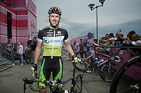 Giro d'Italia stage 13.Savano-Cervere: 121km..Matt Goss before the race