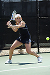SAN DIEGO, CA - APRIL 24: Molly Aloia of the Saint Marys Gaels during the WCC Tennis Championships at the Barnes Tennis Center on April 24, 2010 in San Diego, California.
