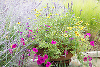 Pastel flower container