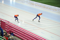 SPEED SKATING: HAMAR: Vikingskipet, 05-03-2017, ISU World Championship Allround, 10.000m Men, Patrick Roest (NED), Sven Kramer (NED), ©photo Martin de Jong