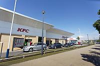 2020 05 08 KFC restaurant at Morfa retail Park in Swansea Wales, UK