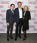 Kevin McCollum and Lynnette Perry with son attend 'The Play That Goes Wrong' Broadway Opening Night at the Lyceum Theatre on April 2, 2017 in New York City.