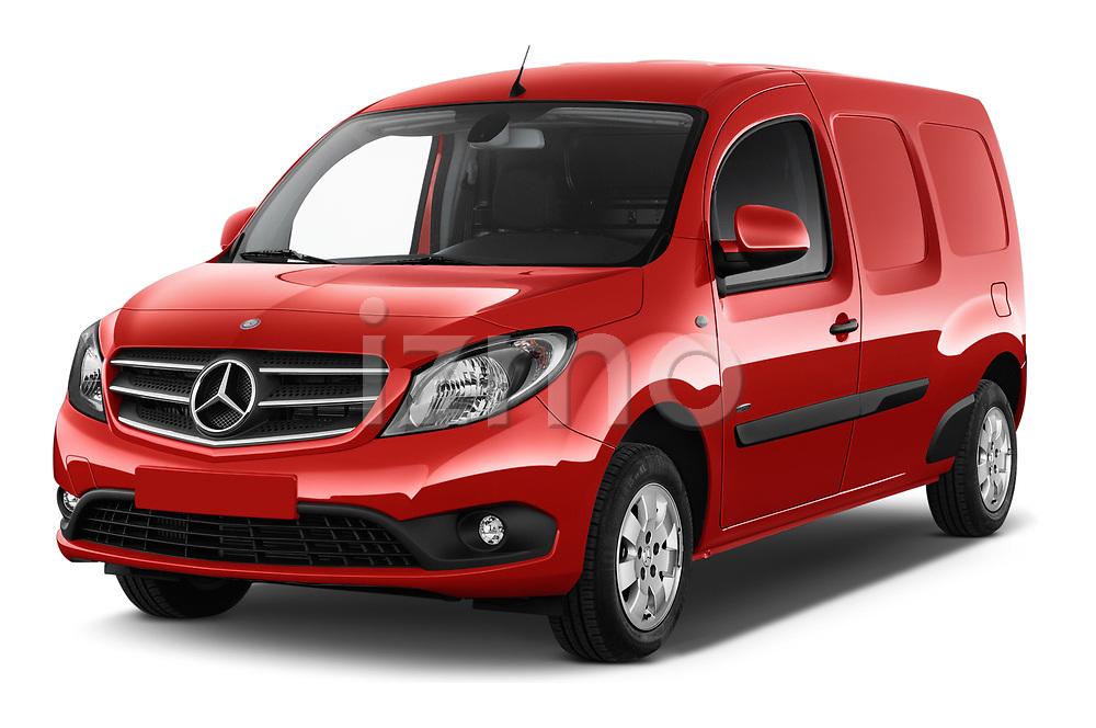 2018 Mercedes Benz Citan Perfect Tool 4 Door Panel Wagon angular front stock photos of front three quarter view