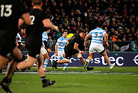 Vaea Fifita in action during the Rugby Championship match between the NZ All Blacks and Argentina Pumas at Yarrow Stadium in New Plymouth, New Zealand on Saturday, 9 September 2017. Photo: Dave Lintott / lintottphoto.co.nz