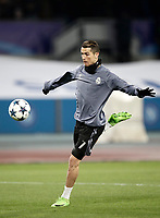 Football Soccer: UEFA Champions League Round of 16 second leg, Napoli-Real Madrid, San Paolo stadium, Naples, Italy, March 7, 2017. <br /> Real Madrid's Cristiano Ronaldo warms up before the Champions League football soccer match between Napoli and Real Madrid at the San Paolo stadium, 7 March 2017. <br /> Real Madrid won 3-1 to reach the quarter-finals.<br /> UPDATE IMAGES PRESS/Isabella Bonotto