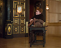 London, UK. 10.04.2014. Shakespeare's Globe presents THE MALCONTENT, in the Sam Wanamaker Playhouse, with the Globe Young Players, directed by Caitlin McLeod. Picture shows: Joseph Marshall (Malevole). Photograph © Jane Hobson.