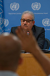 Noon Briefing by the Spokesperson for the Secretary-General<br /> <br /> Guest: Mr. Ali Al-Za&rsquo;tari, UN Resident and Humanitarian Coordinator in the Syrian Arab Republic