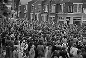 Mass picket of the Grunwick film processing plant in Neasden, West London, in protest at management refusal to recognise trade union representation of the largely female Asian workforce.