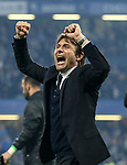 Chelsea's Antonio Conte celebrates during the Premier League match at Stamford Bridge Stadium, London. Picture date: May 15th, 2017. Pic credit should read: David Klein/Sportimage