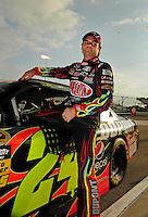 May 1, 2009; Richmond, VA, USA; NASCAR Sprint Cup Series driver Jeff Gordon during qualifying for the Russ Friedman 400 at the Richmond International Raceway. Mandatory Credit: Mark J. Rebilas-