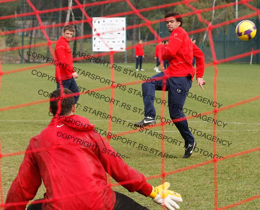 Fudbal.pripreme za prolecnu sezonu.Crvena Zvezda.Practice session, Savio.Antalya, 11.02.2010..foto: Srdjan Stevanovic©