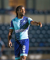 Marcus Bean of Wycombe Wanderers makes his return from injury during the The Checkatrade Trophy match between Wycombe Wanderers and West Ham United U21 at Adams Park, High Wycombe, England on 4 October 2016. Photo by Andy Rowland.
