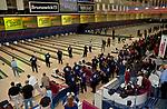 Participants take part in the mass bowl as part of the opening ceremonies of the US Bowling Championships on March 1, 2013 at the National Bowling Center in Reno, Nevada.