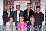 Beaufort Tidy Towns committee at the Kerry Community Awards in the Dromhall Hotel on Sunday l-r: Rachel Cameron, Christina Farrell, Eileen O'Neill. Back row: Padraig O'Sullivan, Philip O'Connor, Proinsias O Curtain and Eanna O'Malley.