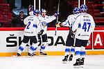 Stockholm 2014-05-03 Ishockey Oddset Hockey Games  Sverige - Finland :  <br /> Finlands Pekka Jormakka jublar efter att ha gjort 1-0<br /> (Foto: Kenta J&ouml;nsson) Nyckelord:  Oddset Hockey Games Sverige Swe Tre Kronor Finland Fin Globen Ericsson Globe Arena