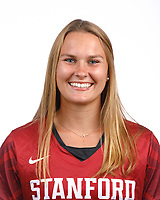 STANFORD, CA - August 16, 2019: Sarah Johnson on Field Hockey Photo Day.