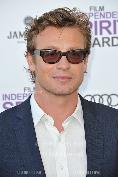 Simon Baker at the 2012 Film Independent Spirit Awards on the beach in Santa Monica, CA..February 25, 2012  Santa Monica, CA.Picture: Paul Smith / Featureflash