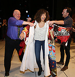 Afra Hines with David Westphal and Matt Wall during the Opening Night Actors' Equity Gypsy Robe Ceremony honoring  Afra Hines for 'Summer:The Donna Summer Musical at Lunt-Fontanne Theatre on April 23, 2018 in New York City.