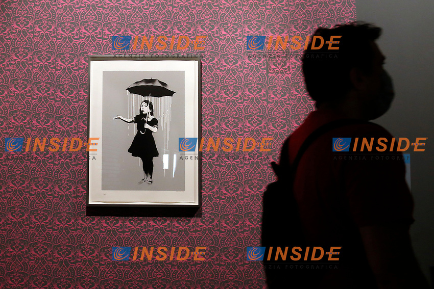Exhibition of the artist Bansky, titled A visual Protest, at Chiostro del Bramante in Rome. <br /> Rome (Italy), September 10th 2020<br /> Photo Samantha Zucchi Insidefoto