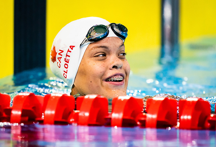 Lima, Peru -  26/August/2019 - Colleen Cloetta competes in the women's 100m breast stroke SB8 at the Parapan Am Games in Lima, Peru. Photo: Dave Holland/Canadian Paralympic Committee.