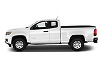 Car driver side profile view of a 2019 Chevrolet Colorado WT 4 Door Pick Up