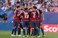 Cleveland, OH - Saturday July 15, 2017: USMNT during a 2017 Gold Cup match between the men's national teams of the United States (USA) and Nicaragua (NCA) at FirstEnergy Stadium.