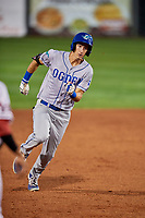 Mitchell Hansen (11) of the Ogden Raptors hustles to third base against the Orem Owlz at Home of the Owlz on September 11, 2017 in Orem, Utah. Ogden defeated Orem 7-3 to win the South Division Championship. (Stephen Smith/Four Seam Images)