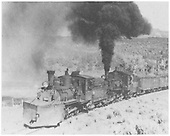 RGS 2-8-0 #42 with plow double-heading with D&amp;RGW K-27 #454.<br /> RGS