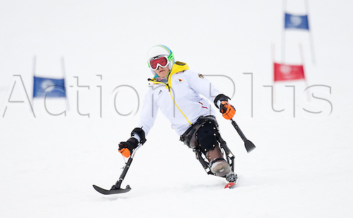 07.03.2014. Sochi, Russia.  Anna-Lena Forster of Germany in action during an unofficial training session in Rosa Khutor Alpine Center at the Sochi 2014 Paralympic Winter Games, Krasnaya Polyana, Russia, 07 March 2014.