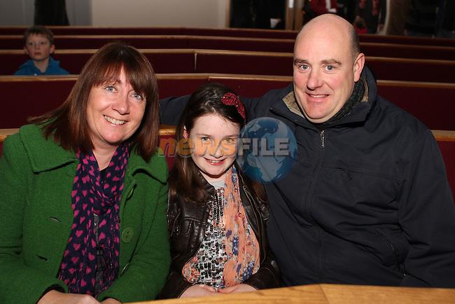 Antoinette, Lily and Ronan Gregory at the Drogheda Grammar Christmas Carol Concert...Photo NEWSFILE/Jenny Matthews..(Photo credit should read Jenny Matthews/NEWSFILE)