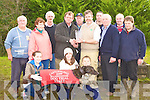 Denis Keane presents Jerry Keane Kiskeam the Dog Trial Stake trophy at the Castleisland Coursing Meeting in Cahill Park, Castleisland on Monday front row l-r: Caoimhe, Claire and Sean Meehan. back row: Terence Sullivan, teresa Culloty, Batty O'Connor, Denis Keane, Joe Galvin, Jerry Meehan, Cieran Casey, Con O'Mahony, Michael Moynihan and Sean Angland