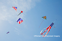 63495-02707 Kites flying at Flagler Beach Flagler Beach, FL