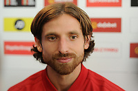 Joe Allen of Wales during the Wales press conference at St Fagans in Cardiff, Wales, UK. Tuesday 09 October 2018