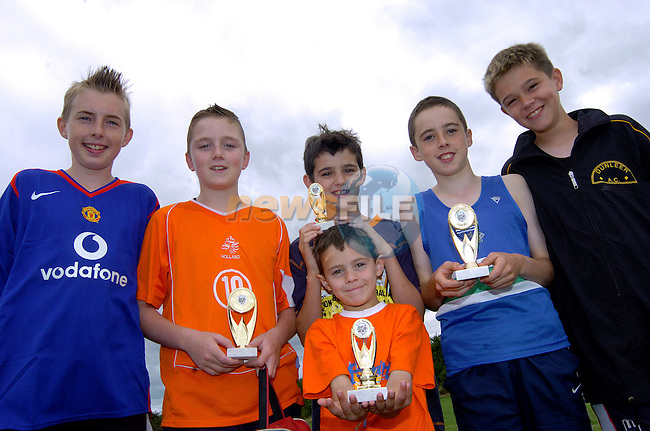 Colin Murphy, Jake Mc Donnell, Leo Mc Grane, Barry Faulkner, andrew Mc Grane and Evan Mc Grane at Boyne Athletic club sports day at Meadowview. Photo: Colin Bell / Newsfile