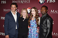LOS ANGELES, CA - JUNE 08: (L-R) Dominic West, Susanne Simpson, Lily Collins and David Oyelowo attend Les Misérables Photo Call at Linwood Dunn Theater on June 08, 2019 in Los Angeles, California.<br /> CAP/ROT/TM<br /> ©TM/ROT/Capital Pictures