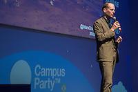 """SÃO PAULO, SP. 07.02.2015 -  CAMPUS PARTY PALESTRA BAS LANSDORP -Criador do projeto """"Mars One"""" que visa para instalar uma colônia humana no planeta Marte e ocupá-la a partir de 2025, discursa na oitava edição da Campus Party na tarde deste sábado, (7). (Foto: Renato Mendes / Brazil Photo Press)"""