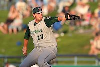 Fort Wayne TinCaps starting pitcher Matt Lollis during a game vs. the West Michigan Whitecaps at Fifth Third Field in Comstock Park, Michigan August 18, 2010.   Fort Wayne defeated West Michigan 5-1.  Photo By Mike Janes/Four Seam Images