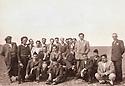 Iraq 1949? <br /> The elite of Erbil,  in the plain near the city, 5th from rignt standing, Zayd Ahmad Othman  <br /> Irak 1949? <br /> Dans la plaine d'Erbil, l'elite de la ville; Debout, 5eme a droite, Zayd Ahmad Othman
