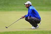 Pablo Larrazabal (ESP) on the 1st green during Saturday's rain delayed Round 2 of the Andalucia Valderrama Masters 2018 hosted by the Sergio Foundation, held at Real Golf de Valderrama, Sotogrande, San Roque, Spain. 20th October 2018.<br /> Picture: Eoin Clarke | Golffile<br /> <br /> <br /> All photos usage must carry mandatory copyright credit (&copy; Golffile | Eoin Clarke)
