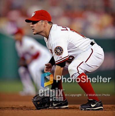 12 July 2008: Washington Nationals' catcher Paul Lo Duca plays at first base against the Houston Astros at Nationals Park in Washington, DC. The Astros defeated the Nationals 6-4 in the second game of their 3-game series...Mandatory Photo Credit: Ed Wolfstein Photo