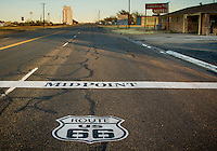 The midpoint of Route 66 in Adrian Texas.