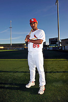 Mar 01, 2010; Jupiter, FL, USA; St. Louis Cardinals infielder Donovan Solano (89) during  photoday at Roger Dean Stadium. Mandatory Credit: Tomasso De Rosa/ Four Seam Images