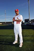 Mar 01, 2010; Jupiter, FL, USA; St. Louis Cardinals infielder Donovan Solano (89) during  photoday at Roger Dean Stadium. Mandatory Credit: Tomasso De Rosa/ Four Seam Images