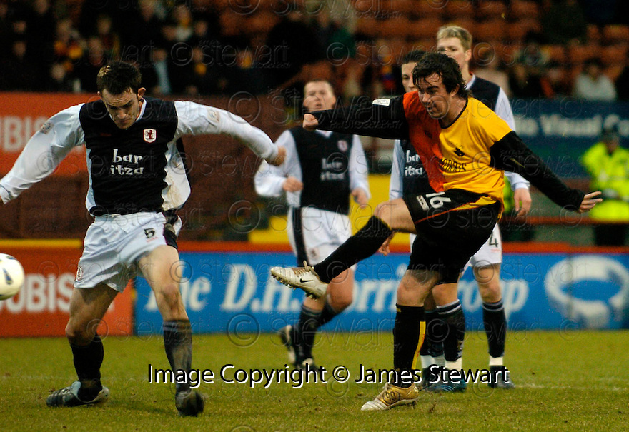29/01/2005  Copyright Pic : James Stewart.File Name : jspa08_partick v raith.STEPHEN MCCONALOGUE SCORES PARTICK'S THIRD.......Payments to :.James Stewart Photo Agency 19 Carronlea Drive, Falkirk. FK2 8DN      Vat Reg No. 607 6932 25.Office     : +44 (0)1324 570906     .Mobile   : +44 (0)7721 416997.Fax         : +44 (0)1324 570906.E-mail  :  jim@jspa.co.uk.If you require further information then contact Jim Stewart on any of the numbers above.........A