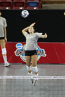 15 December 2007: Stanford Cardinal Bryn Kehoe during Stanford's 2007 NCAA Division I Women's Volleyball Final Four closed practice at ARCO Arena in Sacramento, CA.