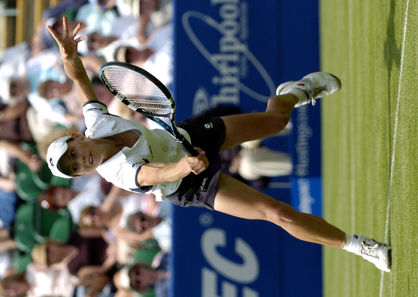 Photo: Richard Lane..Hastings Direct International Championship at Eastbourne. 14/06/2004..Carla Black returns as she wins the first round to Elena Baltacha.