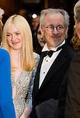 Dakota Fanning and Steven Spielberg attends the 2012 White House Correspondents Association Dinner held at the Washington Hilton Hotel in Washington, D.C. on Saturday, April 28, 2012. .Credit: Kristoffer Tripplaar  / Pool via CNP
