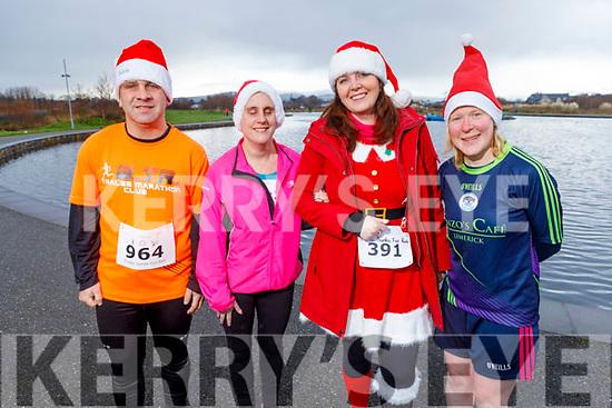Kieran Nolan, Mairead O'Mahoney, Sharon Condon and Sarah Buckley at the Fiona Moore Memorial 5k Fun Run in the Tralee Bay Wetlands on Sunday morning.