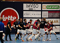 20191010 - HALLE:  Kherson's players are pictured during the warm up before the UEFA Futsal Champions League Main Round match between FP Halle-Gooik (BEL) and Kherson (UKR) on1 0th October 2019 at De Bres Sportcomplex, Halle, Belgium. PHOTO SPORTPIX | SEVIL OKTEM